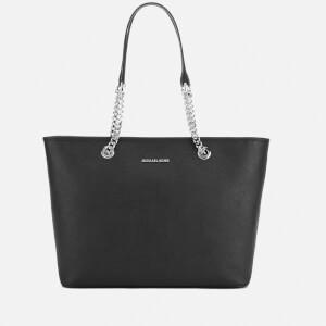 MICHAEL MICHAEL KORS Jet Set Travel Chain Top Zip Tote Bag - Black