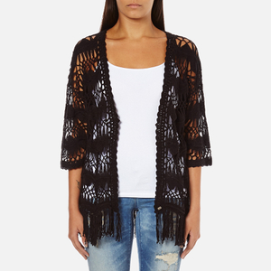 Superdry Women's Willow Crochet Kimono - Black
