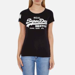Superdry Women's Vintage Logo Duo T-Shirt - Black