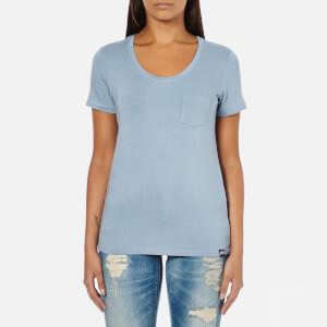 Superdry Women's Essentials Drapey Pocket T-Shirt - Blue Bird