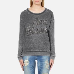 Maison Scotch Women's Basic Burn Out Theme Sweatshirt - Grey
