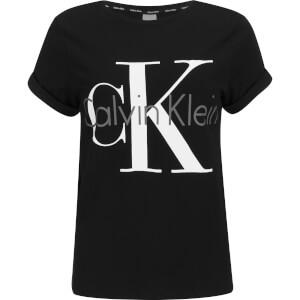 Calvin Klein Women's Logo Short Sleeve Crew Neck T-Shirt - Black