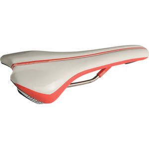 Pro Griffon Saddle Hollow Ti Rails - 132 mm Wide - Regular Fit - White/Red