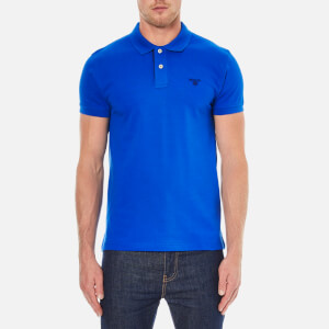 GANT Men's Contrast Collar Pique Polo Shirt - Nautical Blue