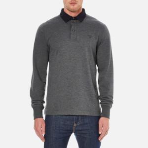 GANT Men's Soft Heather Heavy Rugger Polo Shirt - Graphite Melange
