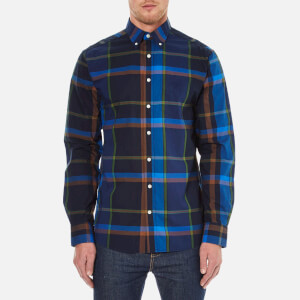 GANT Men's Shadow Plaid Button Down Shirt - Birch Green