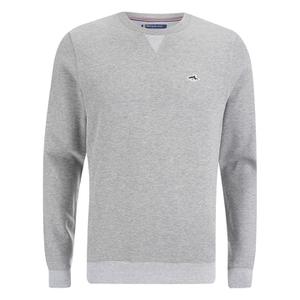 Le Shark Men's Greenfield Crew Neck Sweatshirt - Light Grey Marl