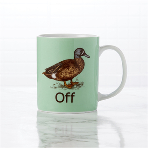 Duck Off Mug - White/Brown