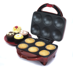 American Originals EK0838B 6 Cup Cupcake Bundle for Fun Cooking - Red