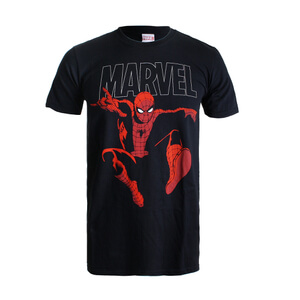 T-Shirt Marvel Spider Strike - Noir