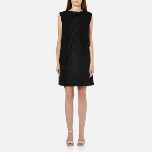 McQ Alexander McQueen Women's Shawl Drape Mini Dress - Black