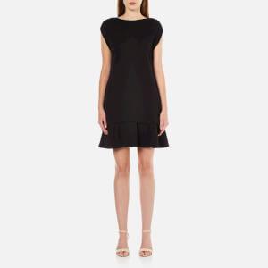 McQ Alexander McQueen Women's Peplum Sweater Dress - Darkest Black