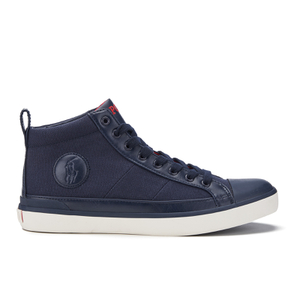 Polo Ralph Lauren Men's Clarke Canvas Hi-Top Trainers - Newport Navy