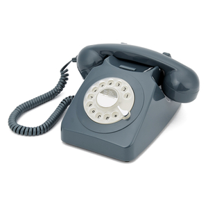 GPO Retro 746 Rotary Dial Telephone - Grey