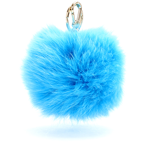 Furla Women's Bubble Keyring Pom Pom - Blue