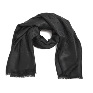 Marc Jacobs Women's Monogram Logo Shawl Scarf - Black