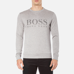 BOSS Green Men's Salbo Logo Sweatshirt - Grey