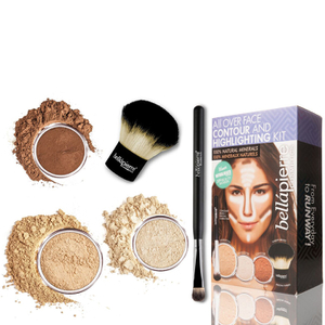 Bellapierre Cosmetics All Over viso highlight & Contour Kit - Medio
