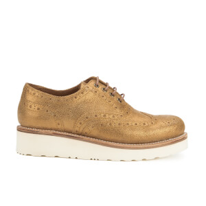 Grenson Women's Emily V Sparkle Brogues - Old Gold