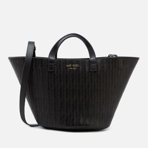 meli melo Women's Rosalia Mini Woven Cross Body Bag - Black Woven