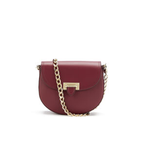 Aspinal of London Women's Portobello Mini Saddle Bag - Bordeaux