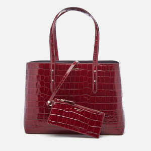 Aspinal of London Women's Regent Croc Tote Bag - Bordeaux