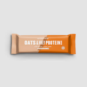 MyBar Oats & Whey, Salted Caramel, Box, 18 Bars