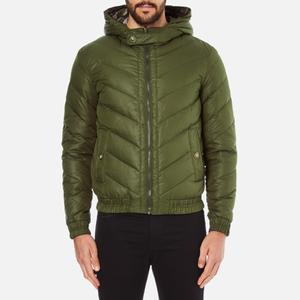 Versus Versace Men's Hooded Down Jacket - Verde
