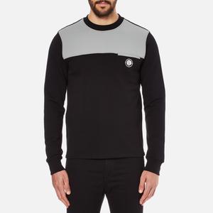 Versus Versace Men's Shoulder Detail Sweatshirt - Black