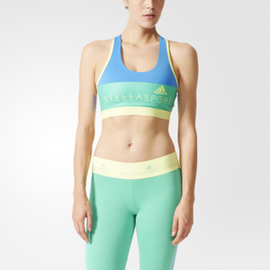 adidas Women's Stellasport Gym Bra - Blue/Yellow