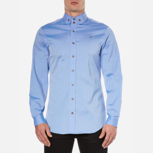 Vivienne Westwood MAN Men's Classic Oxford Two Button Shirt - Light Blue