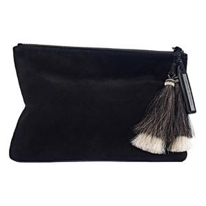 Loeffler Randall Women's Tassel Pouch - Black/Black Natural