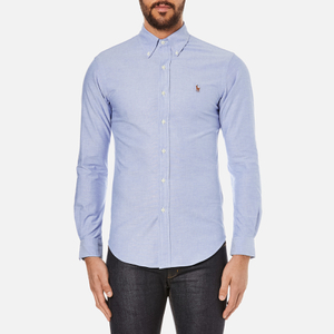 Polo Ralph Lauren Men's Slim Fit Button Down Stretch Oxford Shirt - Blue
