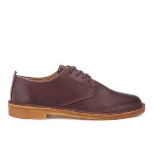 Clarks Originals Men's Desert London Derby Shoes - Nut Brown Leather