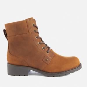 Clarks Women's Orinoco Spice Leather Lace Up Boots - Brown Snuff