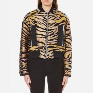 KENZO Women's Tiger Stripes Jacquard Bomber Jacket - Beige