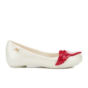 Mini Melissa Vivienne Westwood Kids' Ultragirl Cherub Ballet Flats - Pearl Red