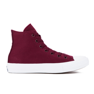 Converse Chuck Taylor All Star II Hi-Top Trainers - Deep Bordeaux/White/Navy