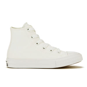 Converse Kids Chuck Taylor All Star II Tencel Canvas Hi-Top Trainers - White/White/Navy
