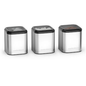 Morphy Richards 970252 Equip Set of 3 Canisters - Stainless Steel