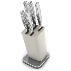 Morphy Richards 974821 Limited Edition 5 Piece Knife Block - Sand