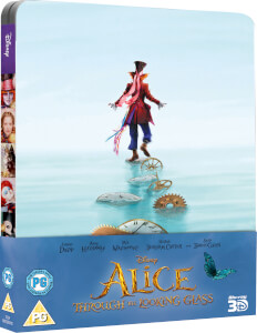 Alice Through The Looking Glass 3D (Incl. 2D) - Limited Edition Steelbook (UK Edition)