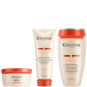 Fondant Magistral Kérastase Nutritive 200 ml & Bain Magistral Nutritive 250 ml & Crème Magistrale Nutritive 150 ml