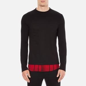 McQ Alexander McQueen Men's Recycled T-Shirt - Dark Black/Red Tartan