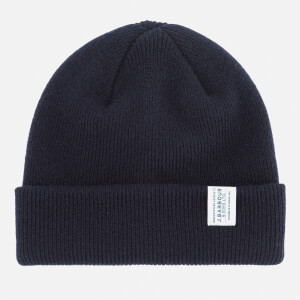 Barbour Men's Lambswool Watch Cap Beanie - Navy
