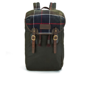Barbour Men's Tartan And Wax Backpack - Olive
