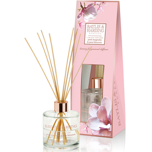 Baylis & Harding Mosaic Pink Magnolia & Pear Blossom Diffuser Set