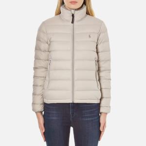 Polo Ralph Lauren Women's Lightweight Nylon Puffa Coat - Chrome Grey