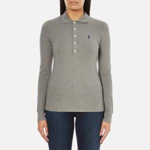 Polo Ralph Lauren Women's Julie Long Sleeve Polo Shirt - Soft Flannel Heather