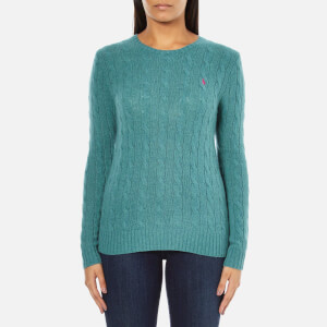 Polo Ralph Lauren Women's Julianna Cashmere Blend Crew Neck Jumper - Aqua Melange